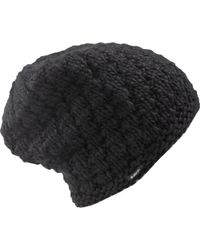 15c2356488c Lyst - Supreme Big Stripe Beanie Black in Black