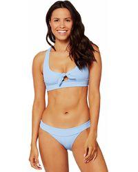 L*Space Ridin' High Ribbed Veronica Bikini Bottom - Blue
