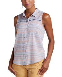 Toad&Co Airbrush Deco Sleeveless Shirt - Purple