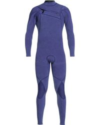 Quiksilver 3/2 Highline Limited Monochrome Chest-zip Wetsuit - Blue