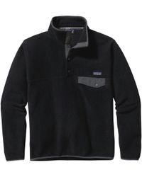 Patagonia Lightweight Synchilla Snap-t Fleece Pullover - Black