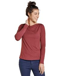 Toad&Co Bel Canto Drape Neck Top - Red