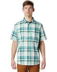 Mountain Hardwear Big Cottonwood Short-sleeve Shirt - Green