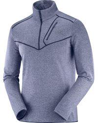 Yves Salomon Discovery 1/2-zip Fleece Pullover - Blue
