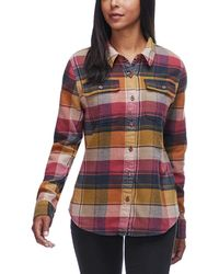 Patagonia Fjord Long-sleeve Flannel Shirt - Red