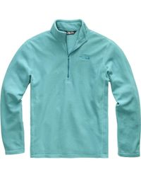 The North Face Tka 100 Microvelour Glacier 1/4-zip Top - Blue