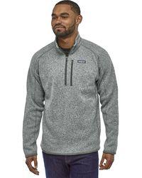 Patagonia Better Sweater 1/4-zip Fleece Jacket - Gray