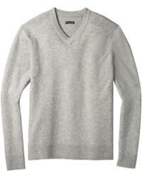 Smartwool Sparwood V-neck Sweater - Gray
