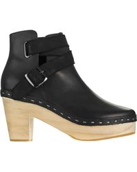 d99d1b39f11 UGG Women's Brea Clog Suede Buckle Boots in Black - Lyst