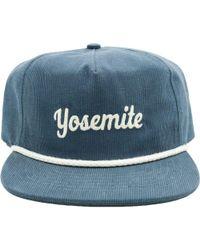 abc77488e Yosemite Corduroy Hat - Blue