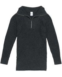 Lolë Evelyn Long Funnel Sweater - Black