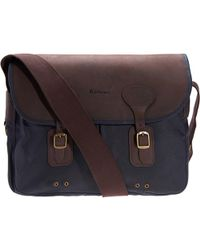 Barbour - Wax Leather Tarras Bag - Lyst