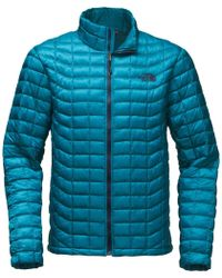 0e5d4d61ea4f Lyst - The North Face Thermoball Full-zip Insulated Jacket in Red ...