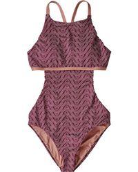 7d80d42a554b1 Patagonia - Glassy Dawn Crossback One Piece Swimsuit - Lyst. Patagonia -  Nireta One-piece Swimsuit - Lyst
