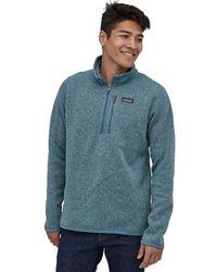 Patagonia Better Sweater 1/4-zip Fleece Pigeon Blue