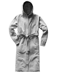 Reigning Champ Midweight Hooded Robe - Gray