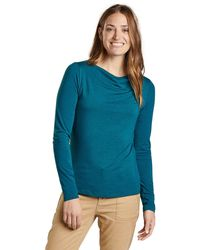 Toad&Co Bel Canto Drape Neck Top - Blue