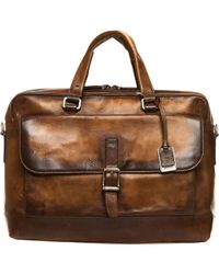 Frye Oliver 2 Handle Bag - Brown