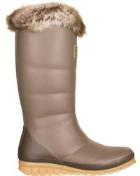 Joules - Downtown Fur Collar Boot - ` - Lyst