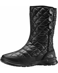The North Face Thermoball Button-up Boot - Black