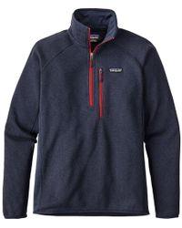 Patagonia   Performance Better Sweater 1/4-zip Fleece Jacket   Lyst