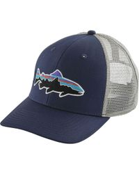 Lyst - Patagonia Fitz Roy Trout Trucker Hat in Blue for Men 8ab3049245f2