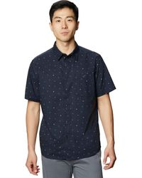 Mountain Hardwear Big Cottonwood Short-sleeve Shirt - Blue