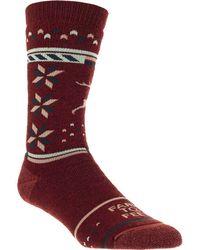 FARM TO FEET Hampton Midweight Sock - Red