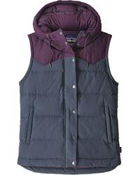 Patagonia Bivy Hooded Vest Smolder Blue W/deep Plum