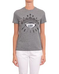 Kenzo Cotton T-Shirt With Logo - Lyst