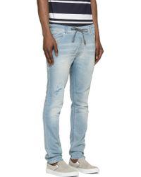 Diesel Light Blue Krooley_Ne Jogg Jeans - Lyst