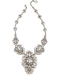 Ben-Amun - Crystal Statement Necklace - Clear - Lyst