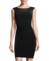 Catherine Catherine Malandrino Harris Printedtop Jersey Dress - Lyst