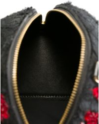 Manish Arora - Sequins Embroidered Skull Clutch - Lyst