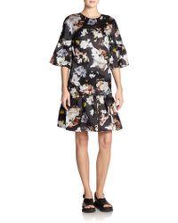 Erdem Silk Logan Floral Dress - Lyst