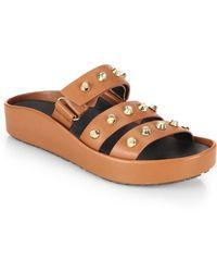 Gentle Souls Unity Studded Leather Slide Sandals - Lyst