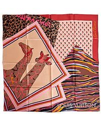 Louis Vuitton | Pre-owned: Patchwork Silk Scarf | Lyst