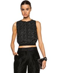 Yigal Azrouël Paisley Lace Top - Lyst