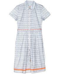 Lemlem Grey Fitted Shirt Dress - Lyst