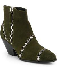 Giuseppe Zanotti Suede Zipper Ankle Boots - Lyst