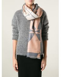 By Malene Birger Checked Scarf - Pink