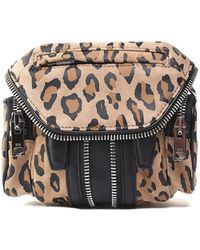 Alexander Wang - Marti Nano Leo-print Suede And Leather Cross-body Bag - Lyst