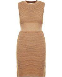 Moschino - Ribbed-knit Lurex Dress - Lyst