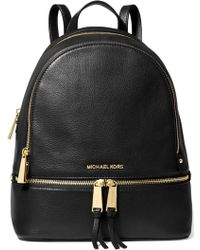 Michael Kors - Rhea Zip Large Pebbled-leather Backpack - Lyst