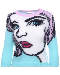 Moschino - 'eyes' Knitted Jumper - Lyst