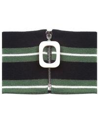 JW Anderson - Striped Merino Wool Zipped Collar - Lyst