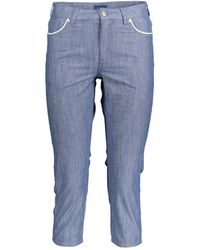 GANT Capri Trousers - Blue