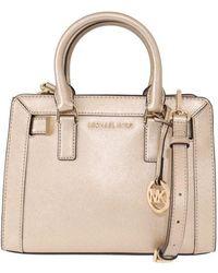 Michael Kors Pale Gold Dillon Leather Satchel Bag - Multicolor