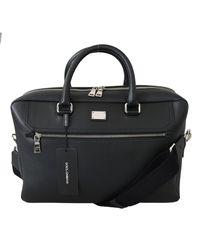 Dolce & Gabbana Black Briefcase Messenger S Shoulder Laptop Borse Bag