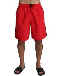 Billionaire Italian Couture Red Beachwear Nylon Swimshorts Swimwear